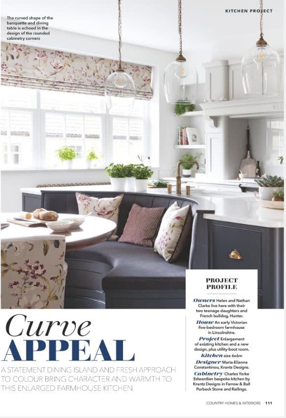 Krantz Designs in the Country Homes & Interiors Magazine October 2020