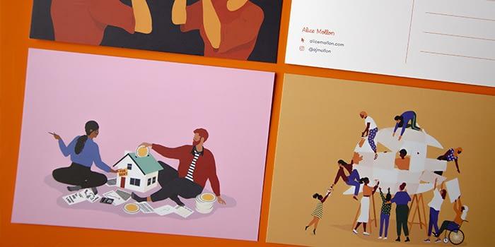 Alice Mollon postcards