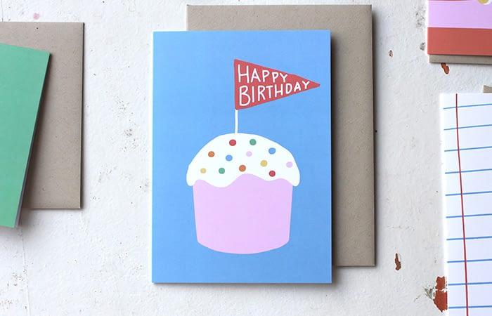 Oh the colour birthday card
