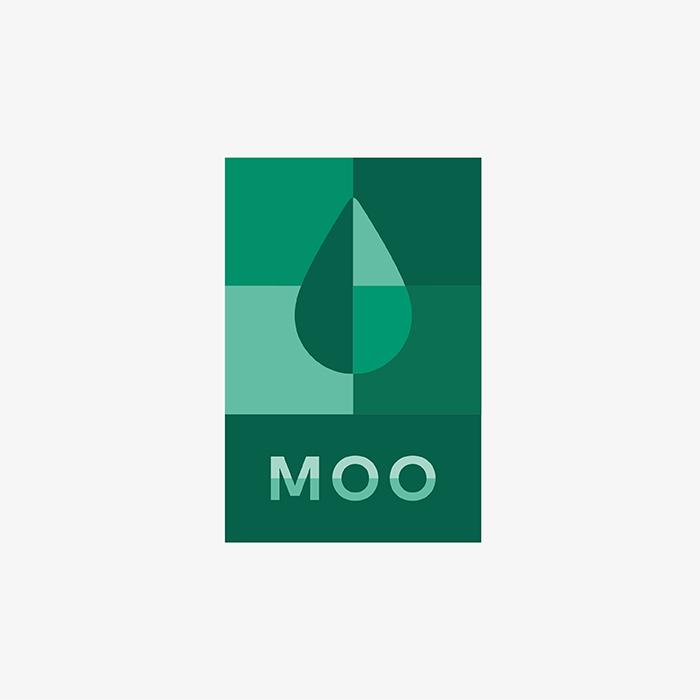 MOO Bauhaus inspired logo