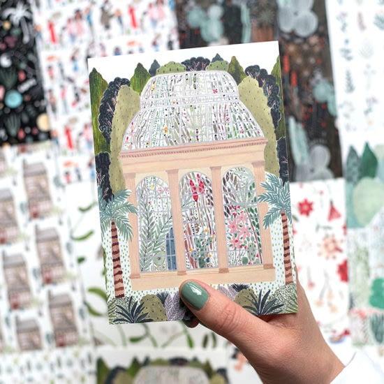 Boccaccini Meadows postcard design