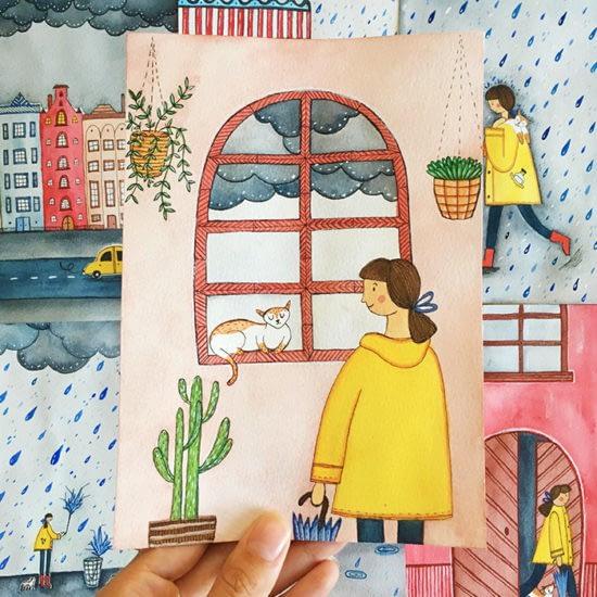 Andrina Menon postcard