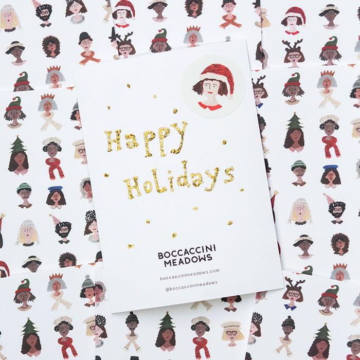 Sara Boccaccini Meadows holiday card