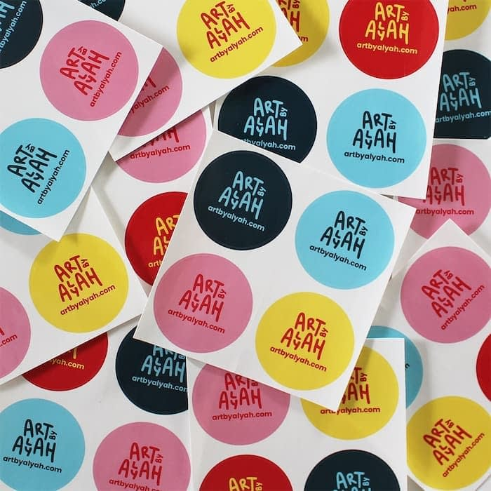 Colorful round stickers by Art by Alyah