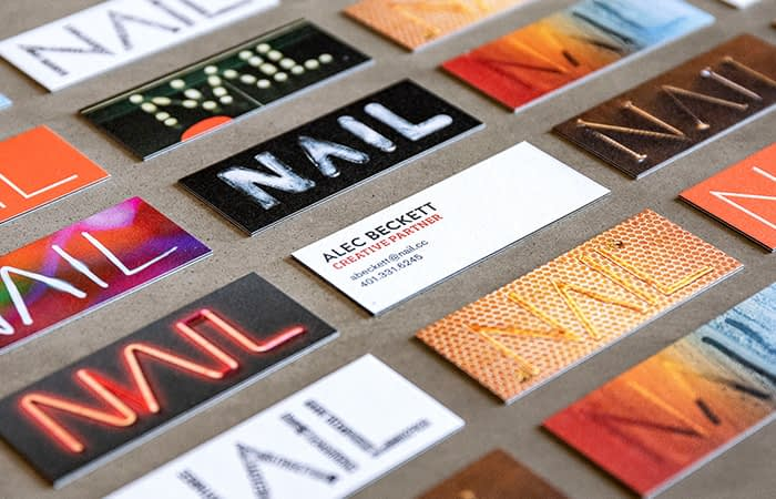 Mosaic of Nail mini business cards