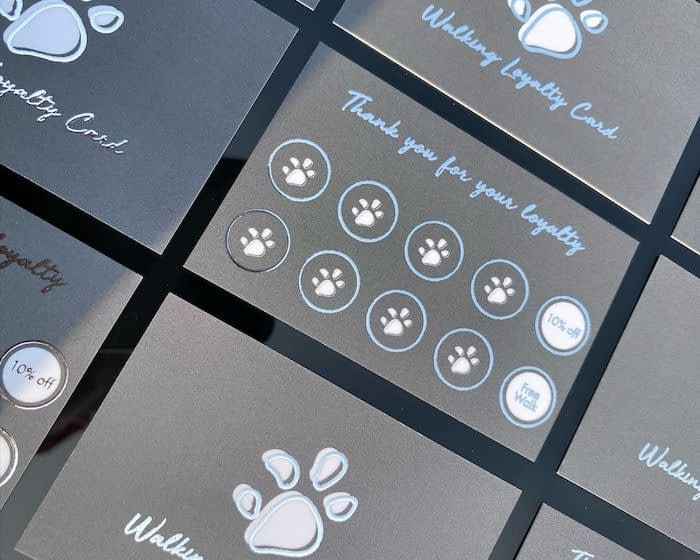 Brooke Henning loyalty card design for Scruffy to Fluffy