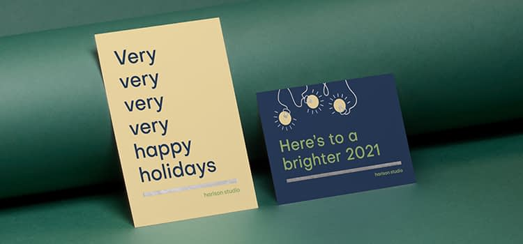 Holiday postcards for businesses
