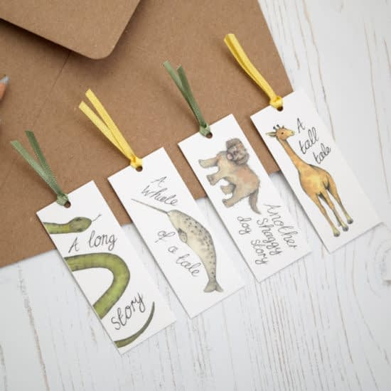 Minicards used as bookmarks by Dani Williams