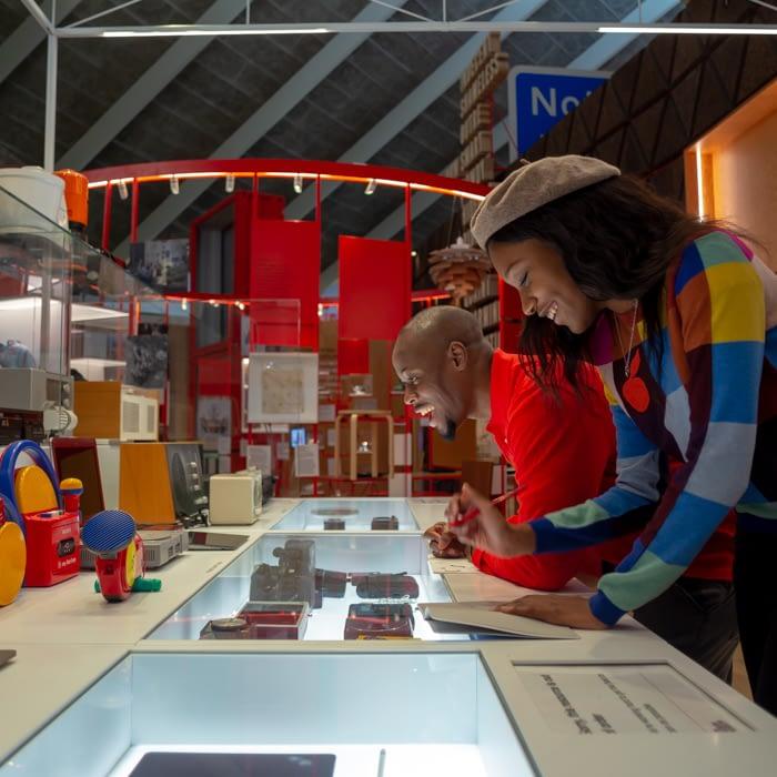 people in design museum