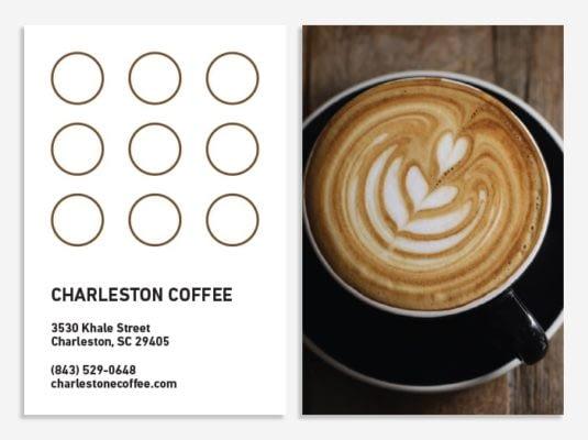 Loyalty card for a café
