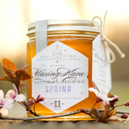 Eric Kass honey label with cursive font
