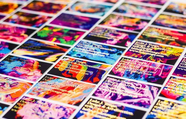 Luke Tonge mosaic of business cards