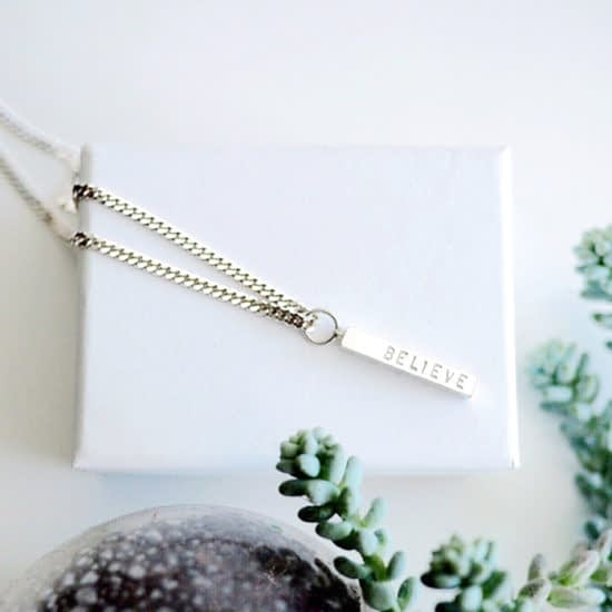 Kate Wainwright believe necklace