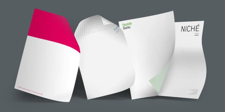 3 sheets of paper with different letterheads