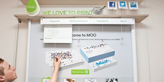 Old MOO website interface