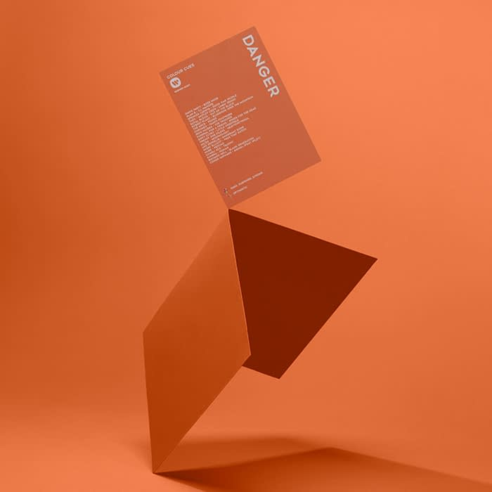 Orange color cue playlist card