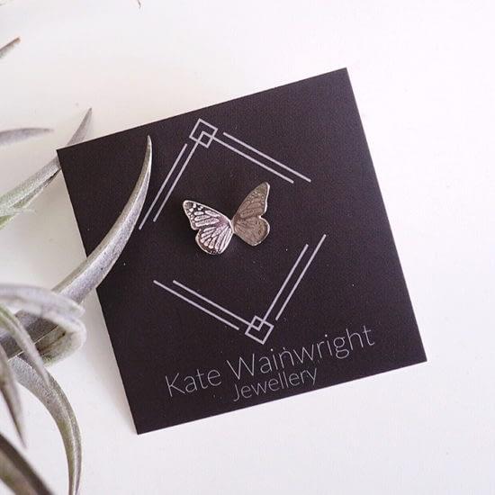 Kate Wainwright jewelry on square card