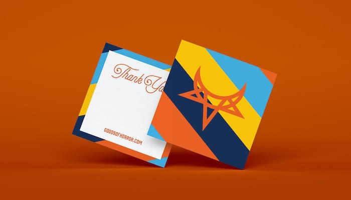 Daniel Fernandez Goods of Horror square thank you card design