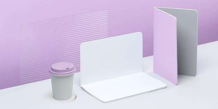 Softcover mauve notebook