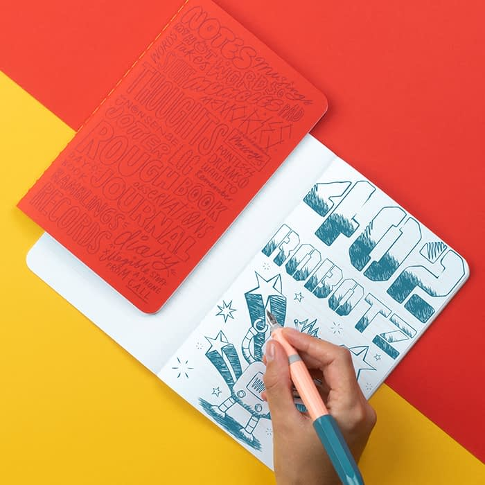 Kate Moross lined notebook