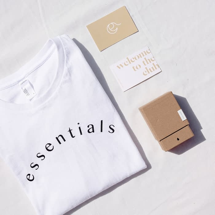 The Binding luxury business cards and t-shirt