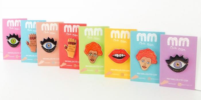 Minta Miller back cards for pins
