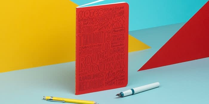 Red Kate Moross notebook