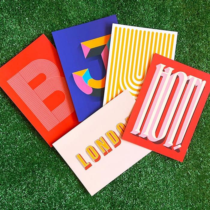 Aidan Gooding Donoghue postcards by MOO