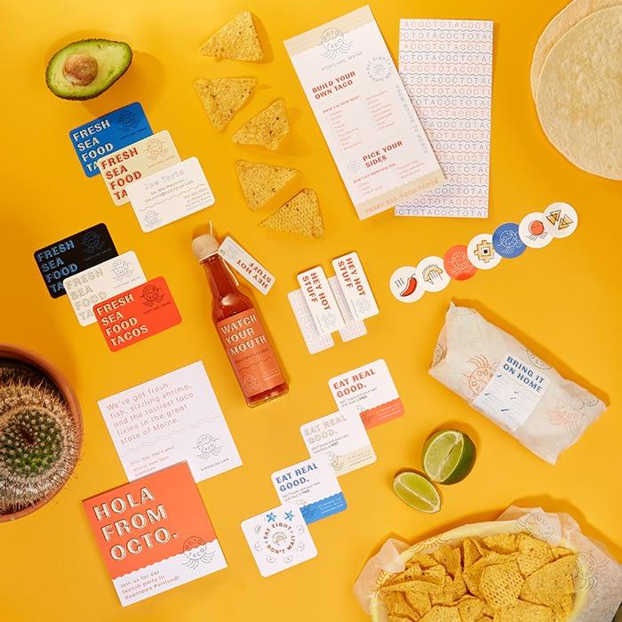 Taco restaurant promotional materials