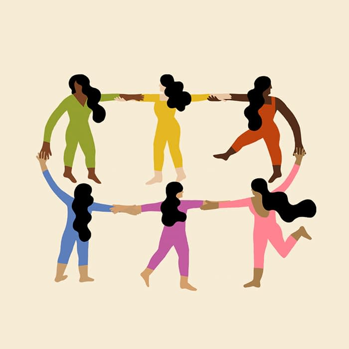 Colors as people holding hands Melanie Johnsson