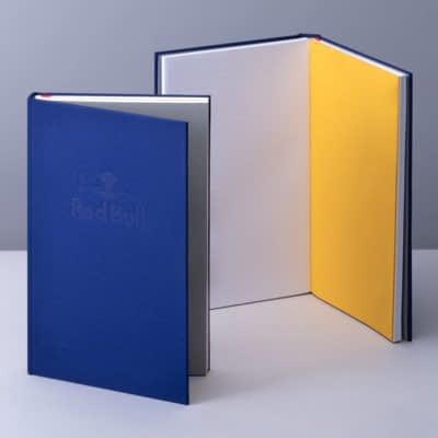 Red Bull branded hard cover notebook by MOO
