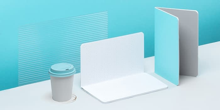 Softcover blue notebook