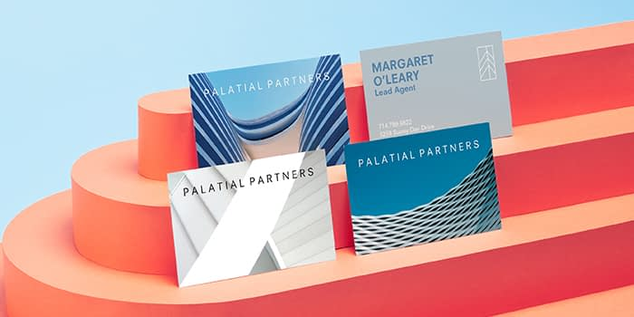 4 Business cards for Palatial Partners