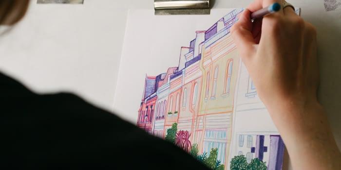 Claudine O'Sullivan Building Illustration