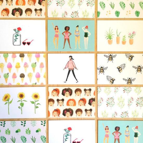 Mosaic of Andrina Menon postcards