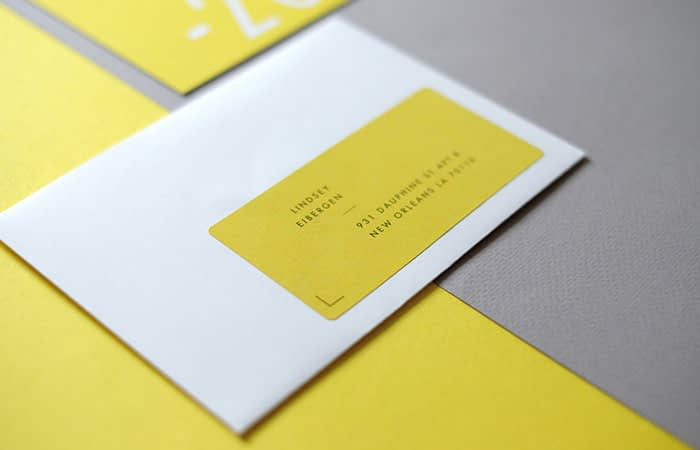 Address label by The Letterist