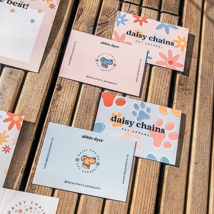 Daisy Chain branded materials Lucy's Logos