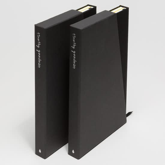 Timothy Goodman notebooks in cases
