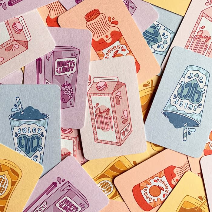 Collection of pastel Lucy Jennings Business Cards