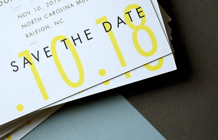 The Letterist save the date