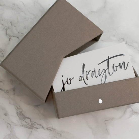 Jo Drayton business cards