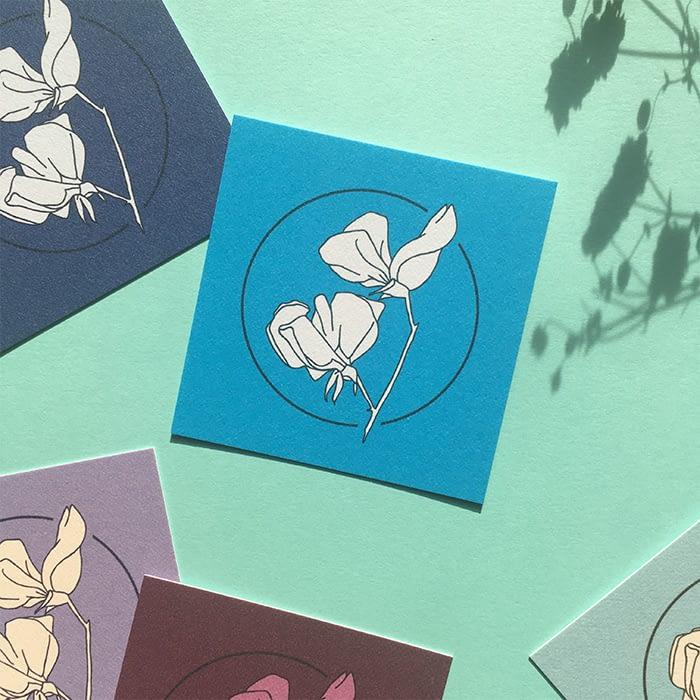 Flower business cards by Eljae Studio