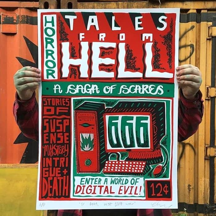 Tales from hell poster design by Charlie Gould