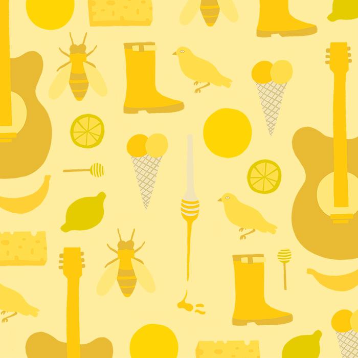 Yellow illustration inspo Melanie Johnsson