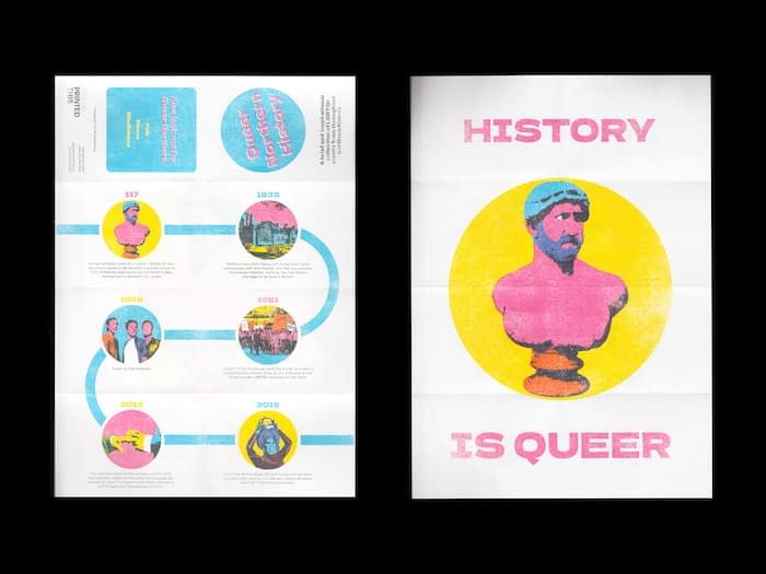 Queer history pamphlet by Chris Printed This
