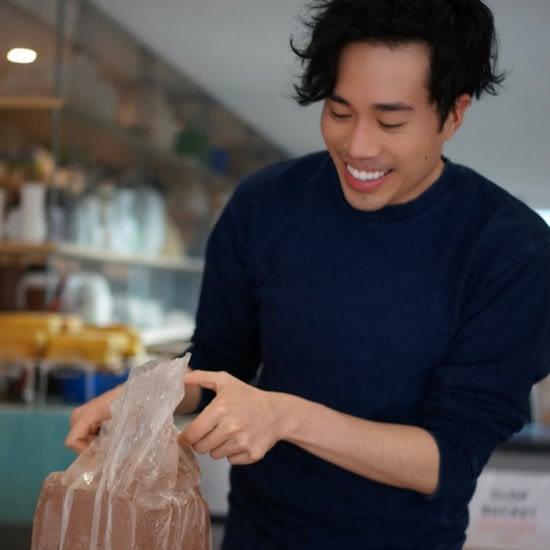 Bowl Cut Ceramics founder at work