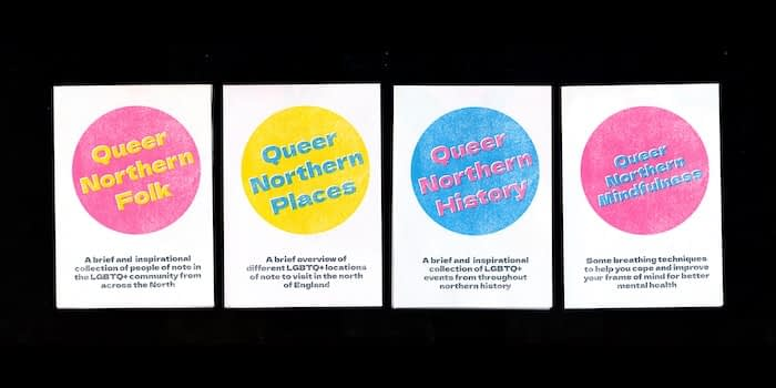 4 queer pamphlets by Chris Printed This