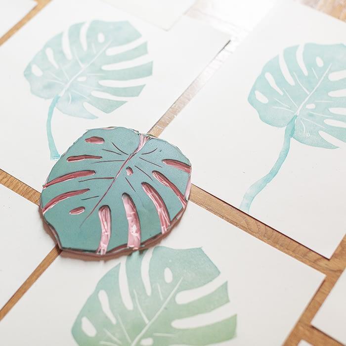 Fatto Ameno leaf stamp