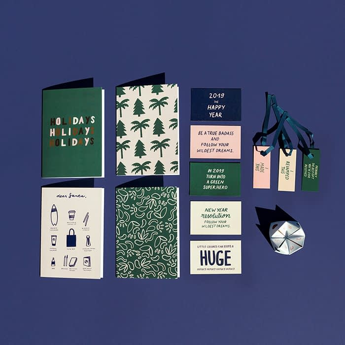Melanie Johnsson holiday cards and gift tags