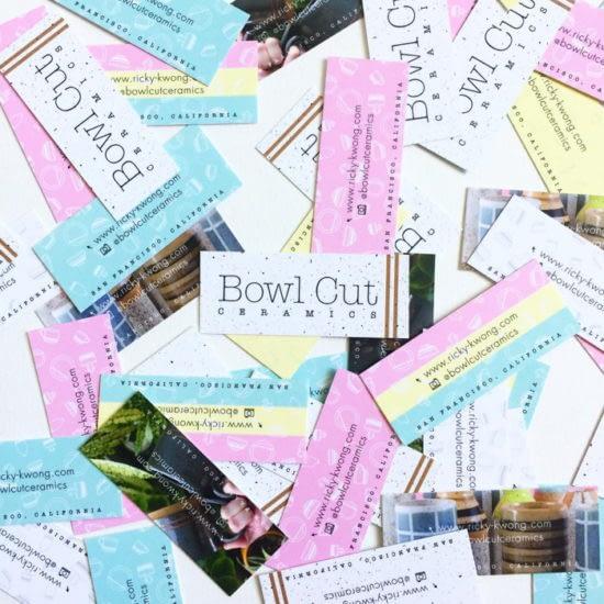 Bowl Cut Ceramics mini business cards